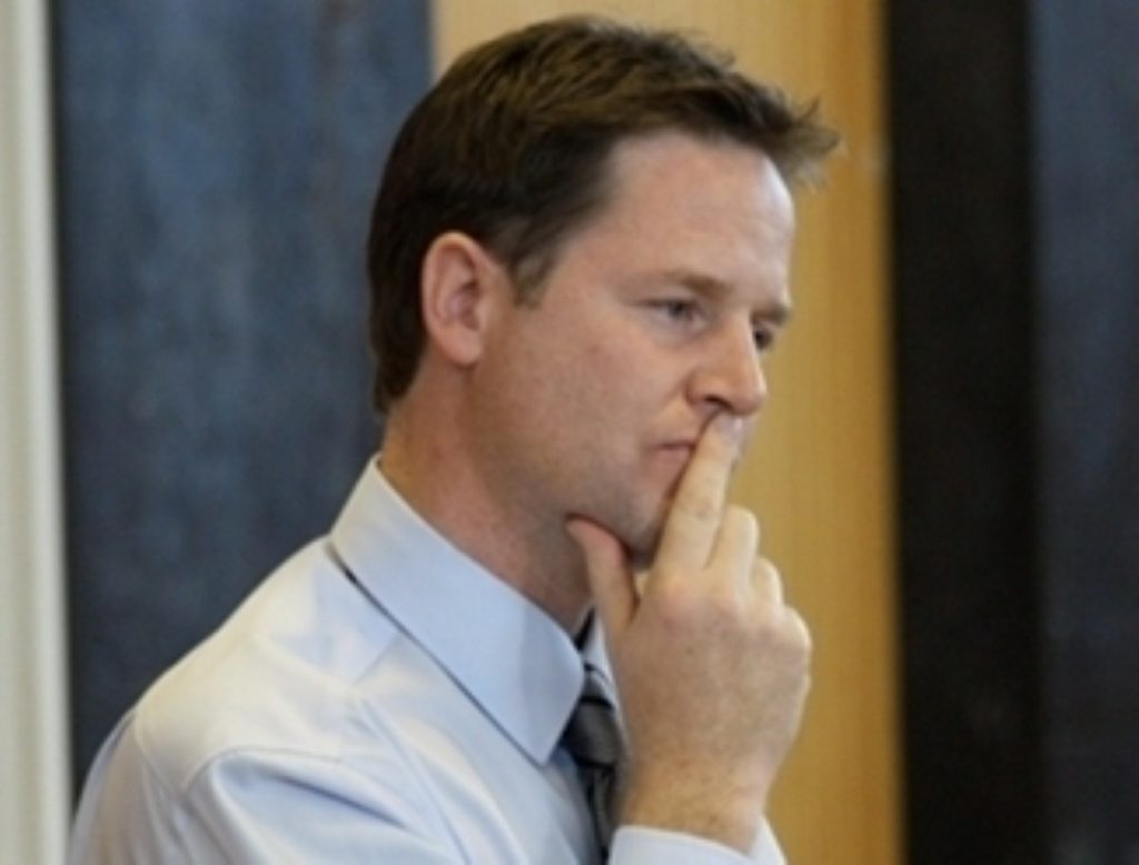 Nick Clegg in confrontational mode over Scottish independence