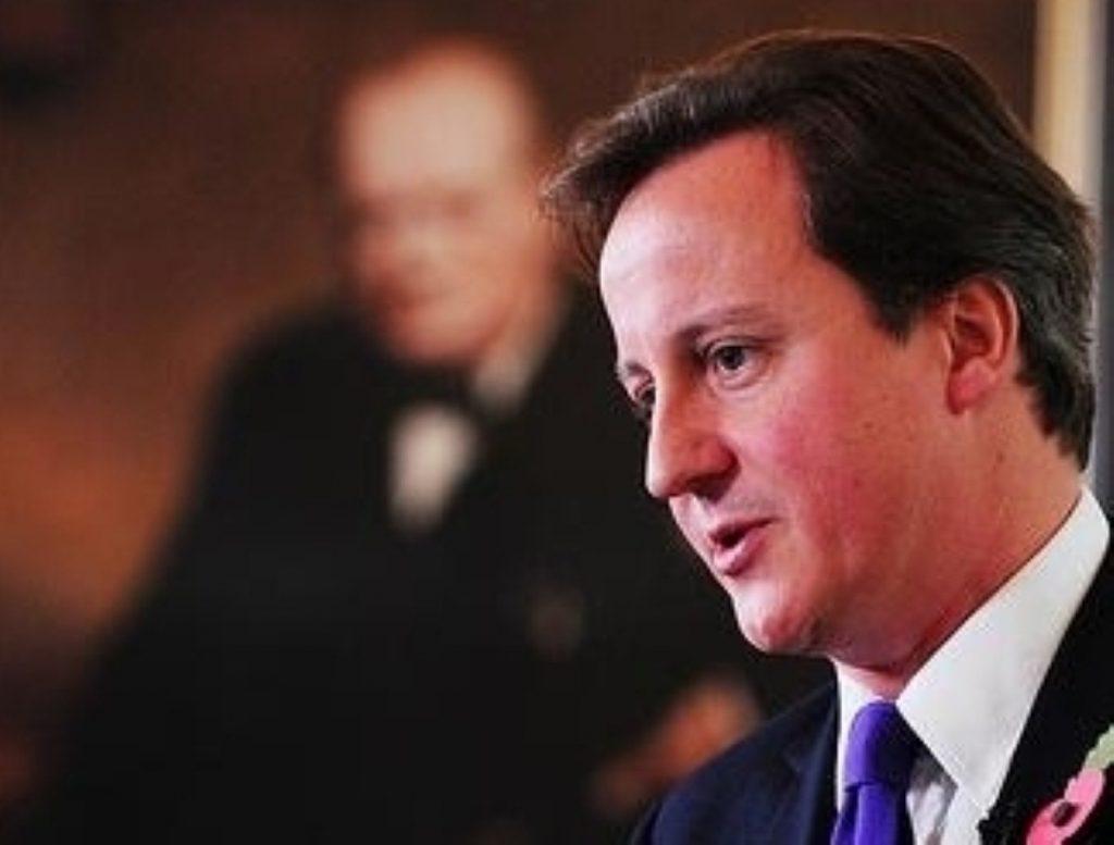 Cameron stopped short of apologising for the  massacre Winston Churchill called 'monstrous'.