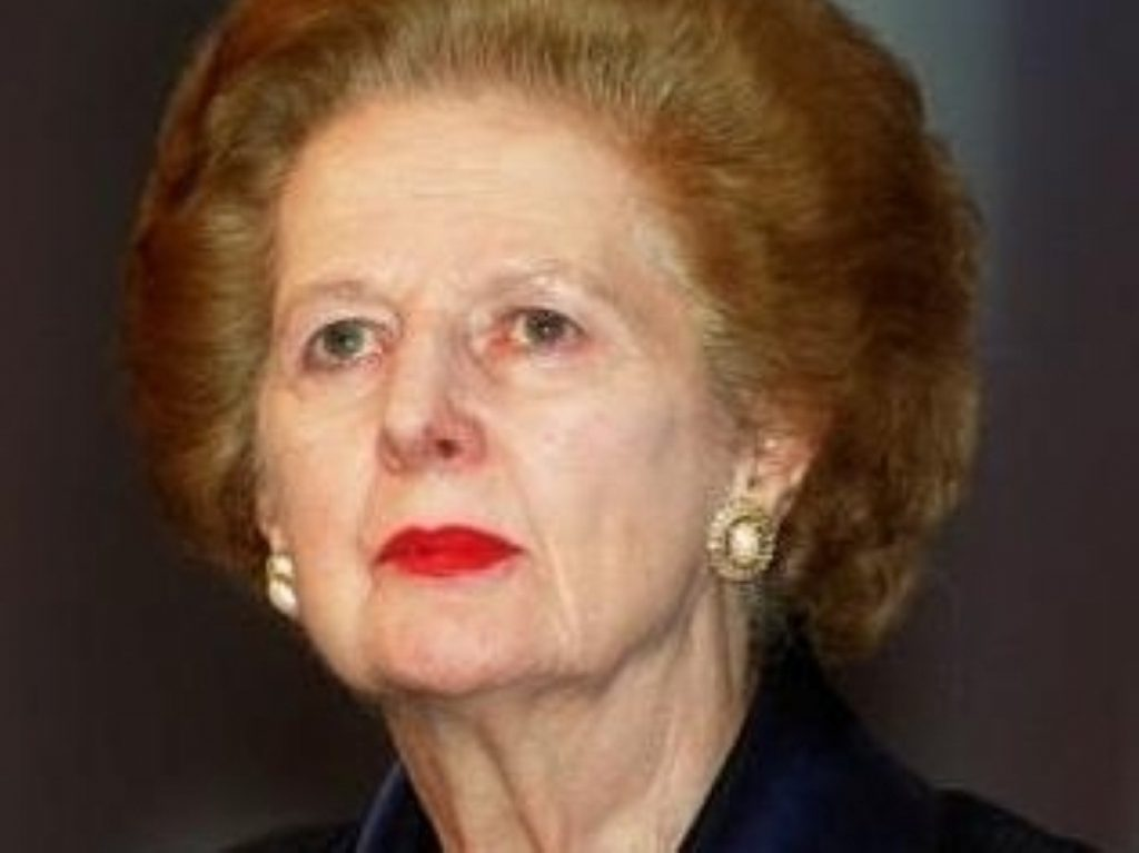 Lady Thatcher pulled out of the party earlier today