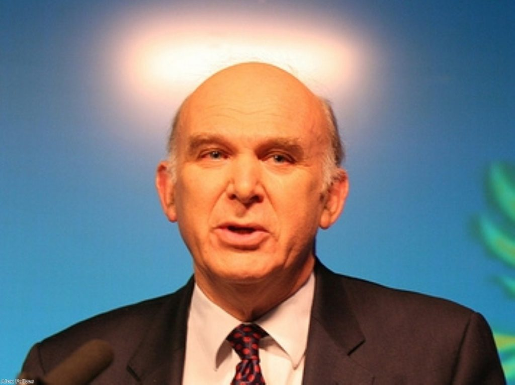 St Vince? Cable is reported to have protested Osborne's role in the Treasury.