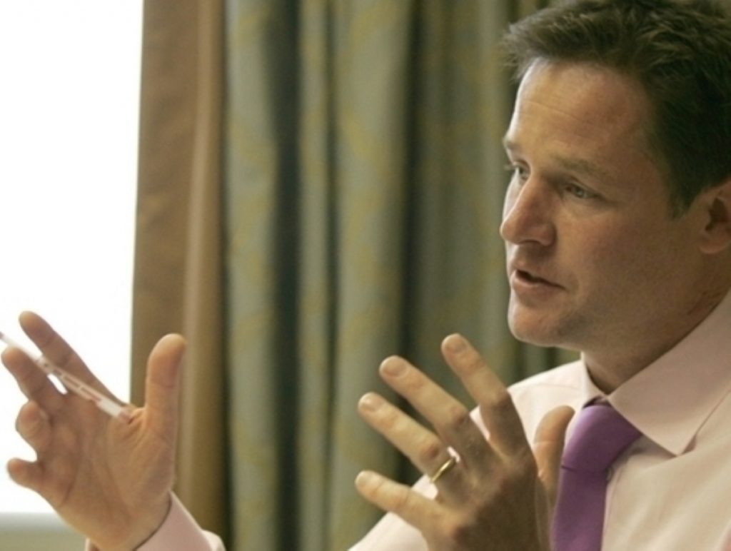 The DPM is keen to pdemonstrate Lib Dem influence in government