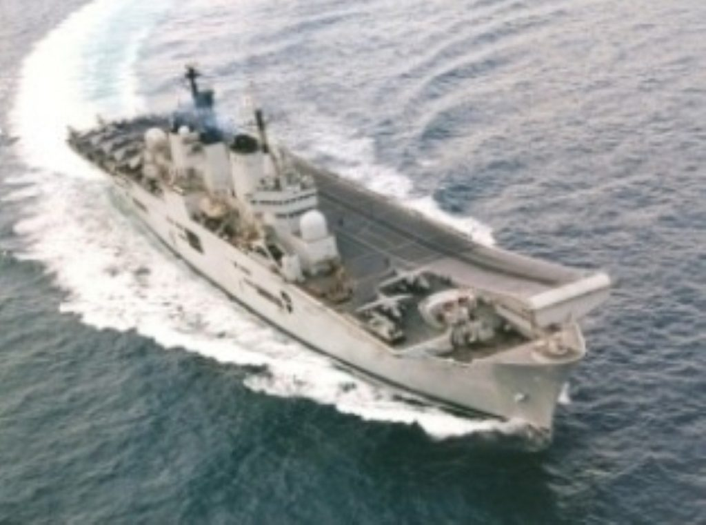 Britain's naval forces could soon be sharing the task with the French