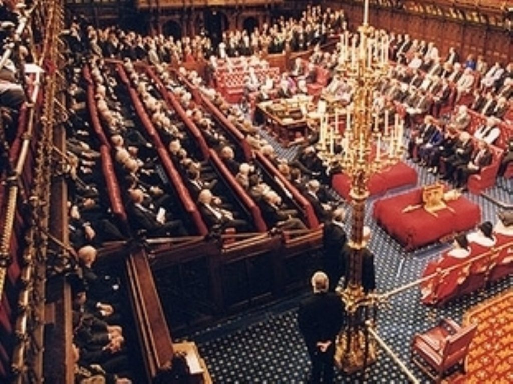 The packed upper House is the largest second chamber in the world