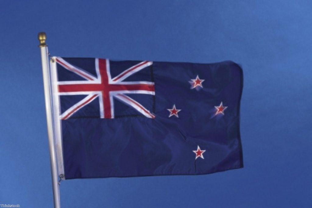 A new Zealand flag: Many Britons are currently in New Zealand for work or holidays