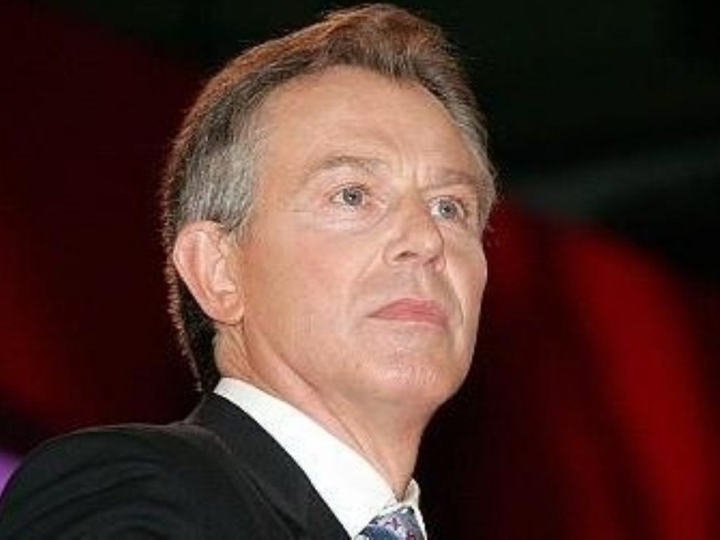 Blair recieved the award despite condemnation from anti-war campaigners