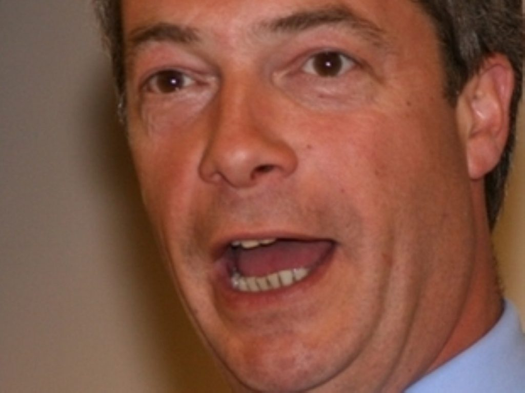 Nigel Farage in a standard European rant