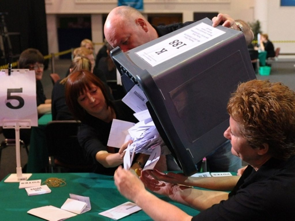 Vote counting at the general election - but not everyone got to make their voice heard