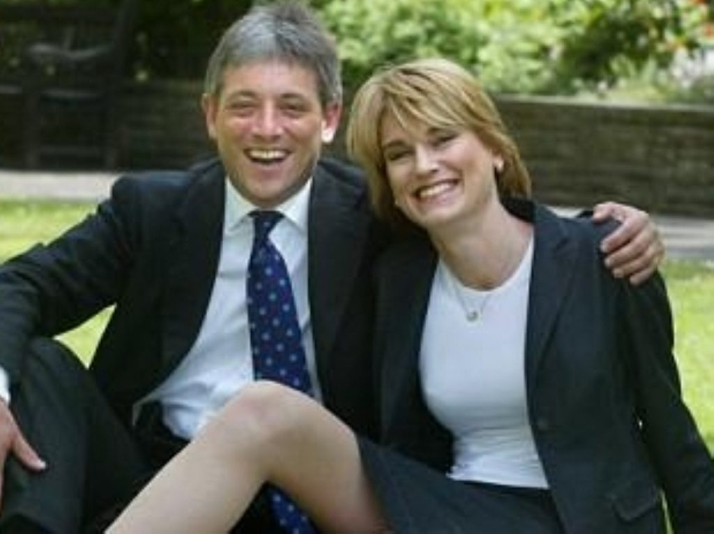John Bercow's wife Sally - who stood for Labour in council elections this year - has undermined his support among Tory MPs