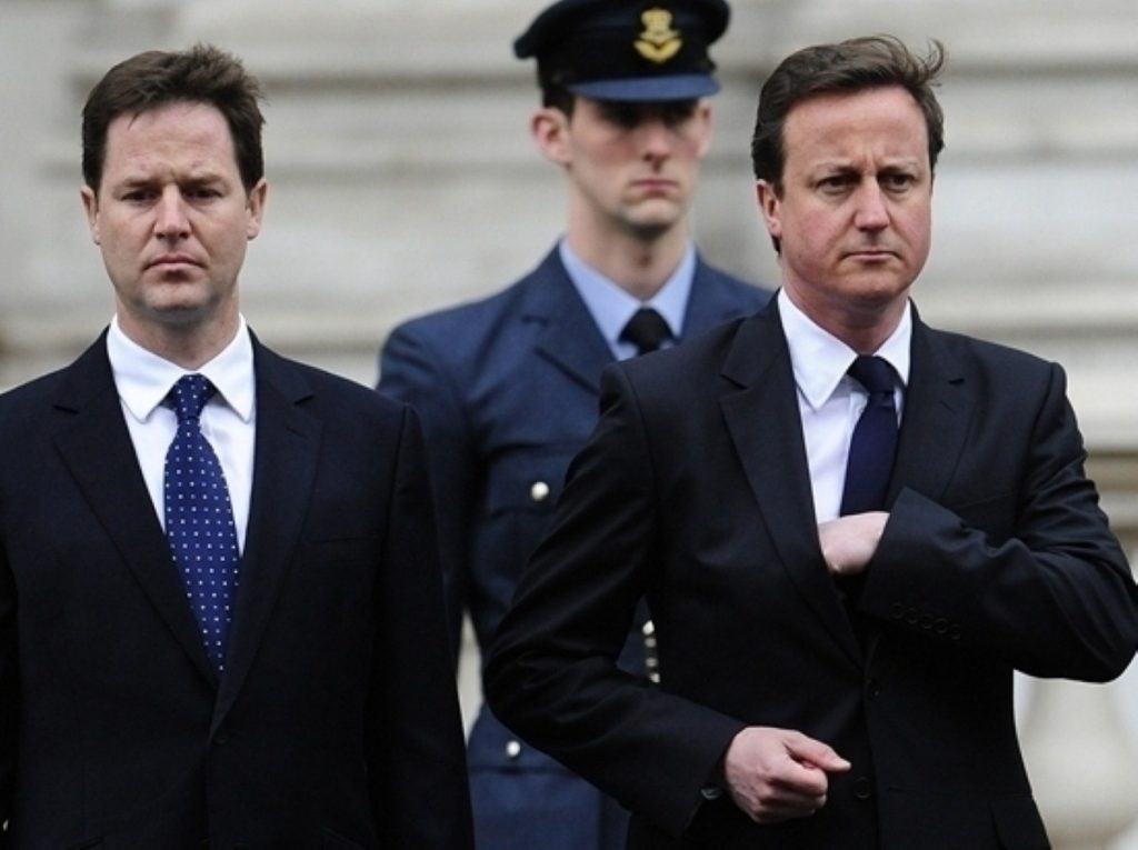 Standing united? The public don't think Clegg and Cameron can make it five years