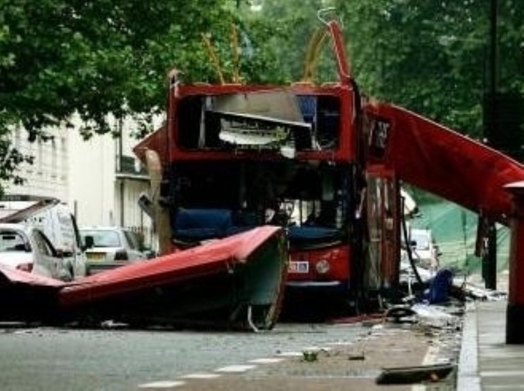 The scene of one of the London bombings