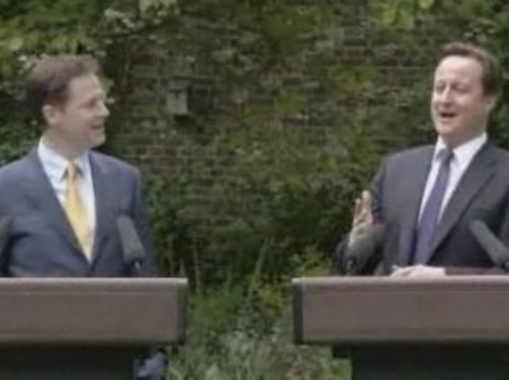 The Cameron Clegg coalition has caused hope and disappointment