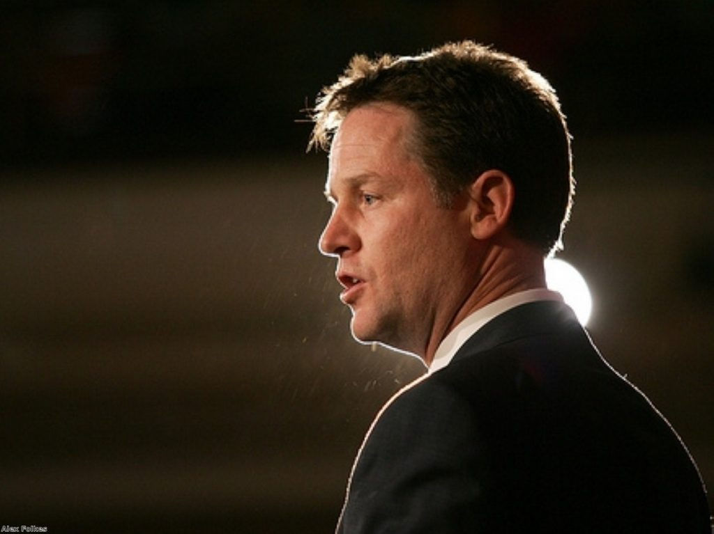 Clegg: the action being taken in Libya today is right.