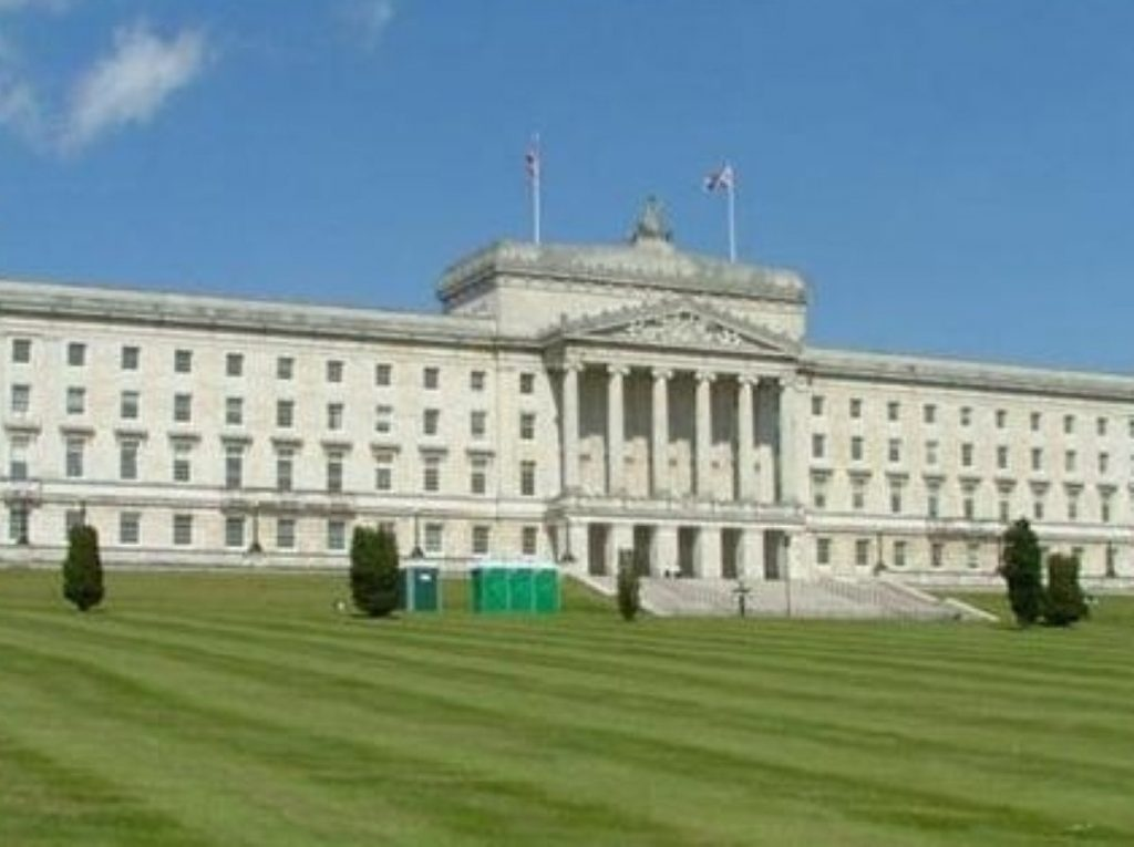 Stormont, where cameron reiterated his support for devolution today