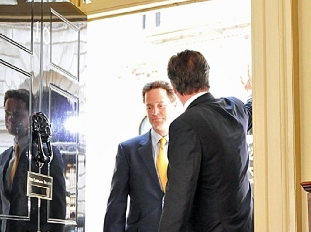 Relations between Clegg and Cameron are warm, but tensions remain over the EU and other issues