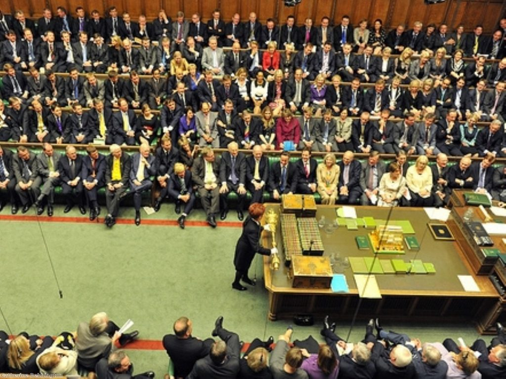 Attention focuses on the mace - symbol of parliament's power. But how will the next government's power be grounded?