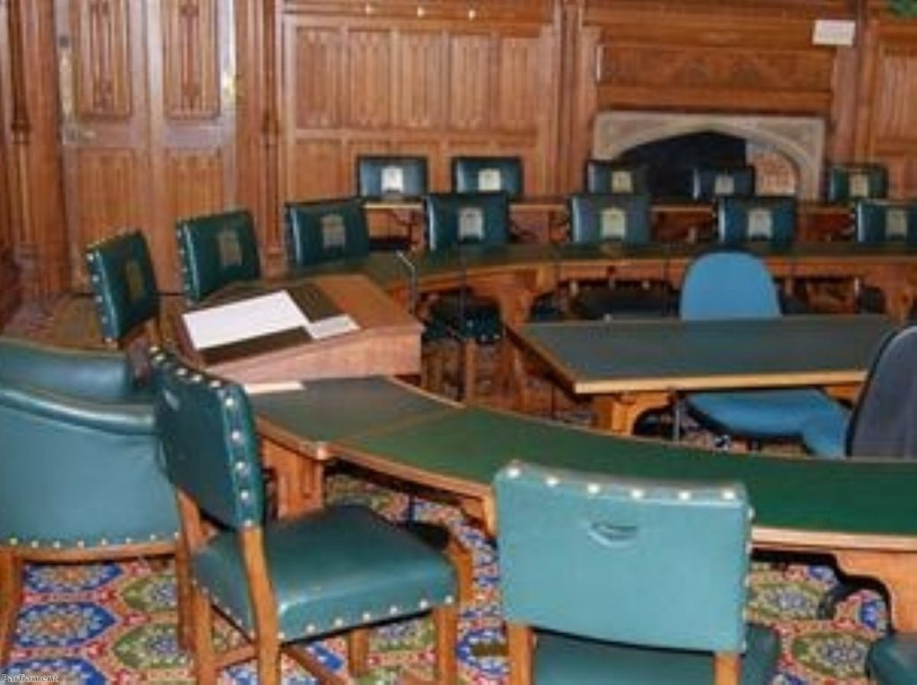 Select committee room in the Palace of Westminster