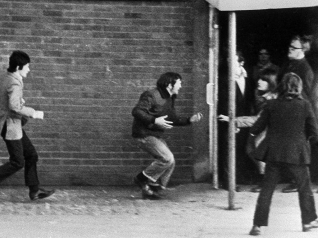 A scene from Bloody Sunday, on January 30th, 1972.