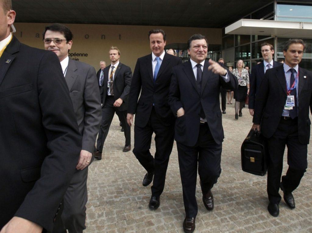 David Cameron with European Commission president Jose Manuel Barroso