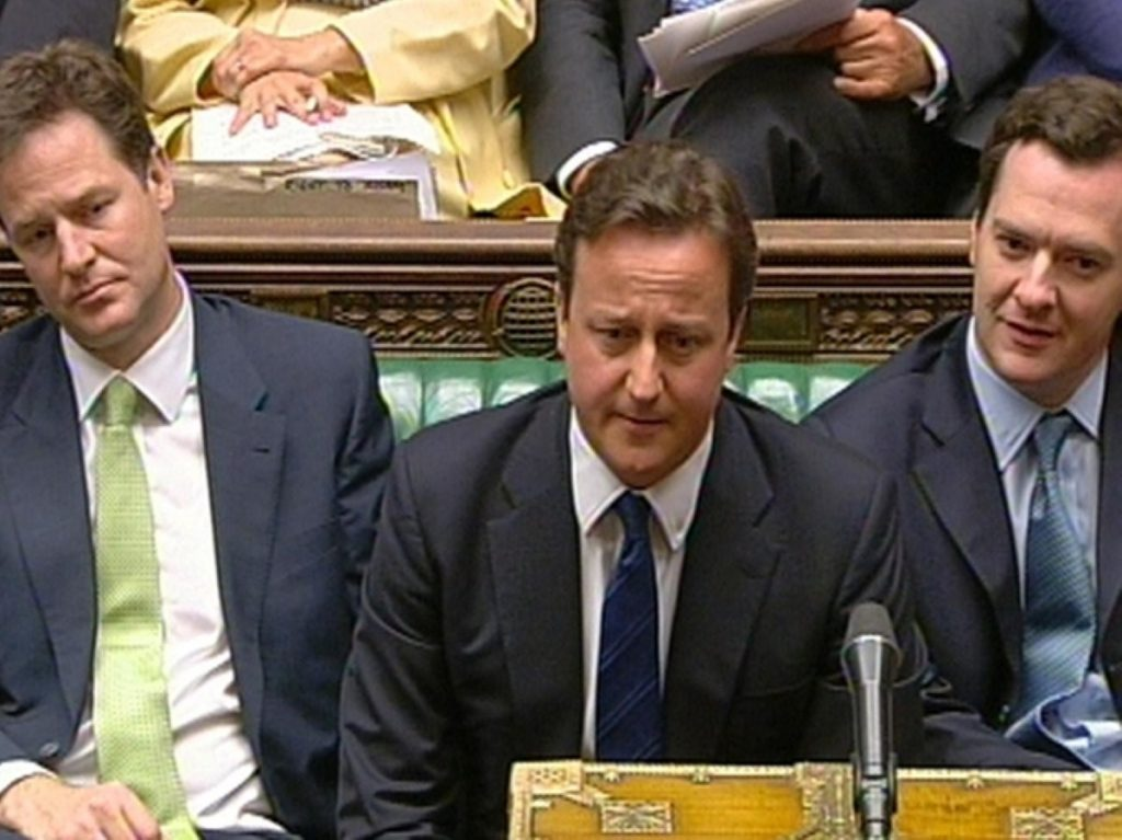 The coalition government is vulnerable to public anger over the spending review