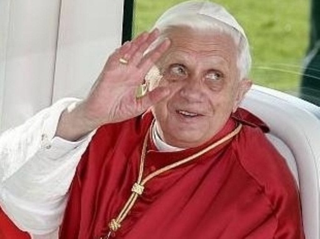 How would Pope Benedict XVI cope with Ann Widdecombe?