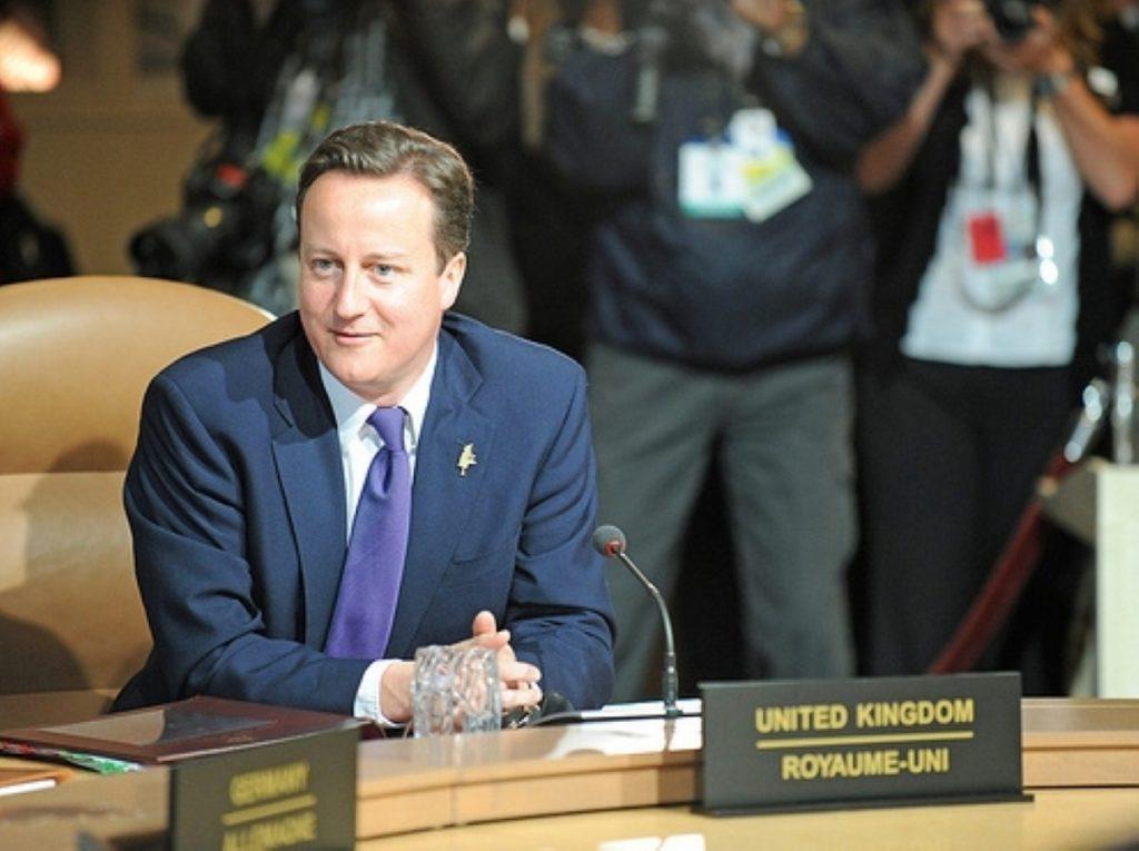 David Cameron at yesterday's G8 summit
