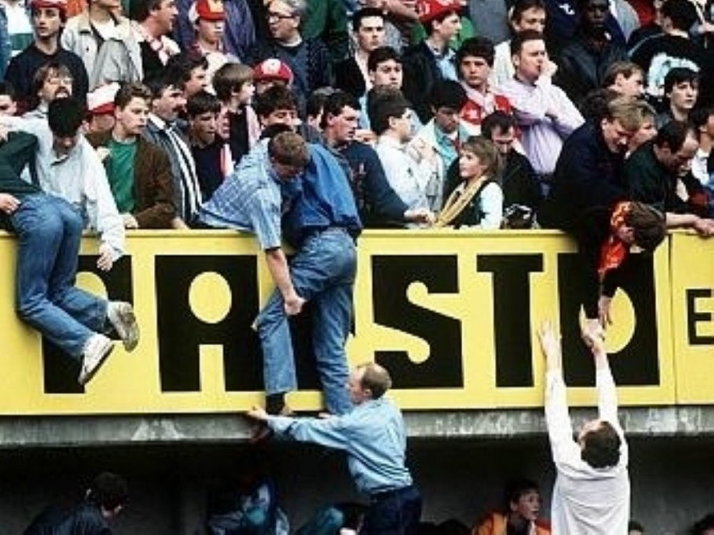A scene from the Hillsborough disaster, which left an indelible mark on the psyche of English football
