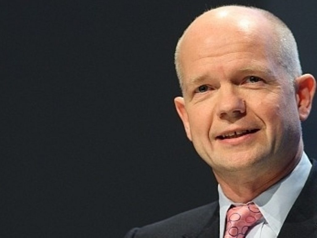 Hague: 'This is a time of opportunity in the Middle East'