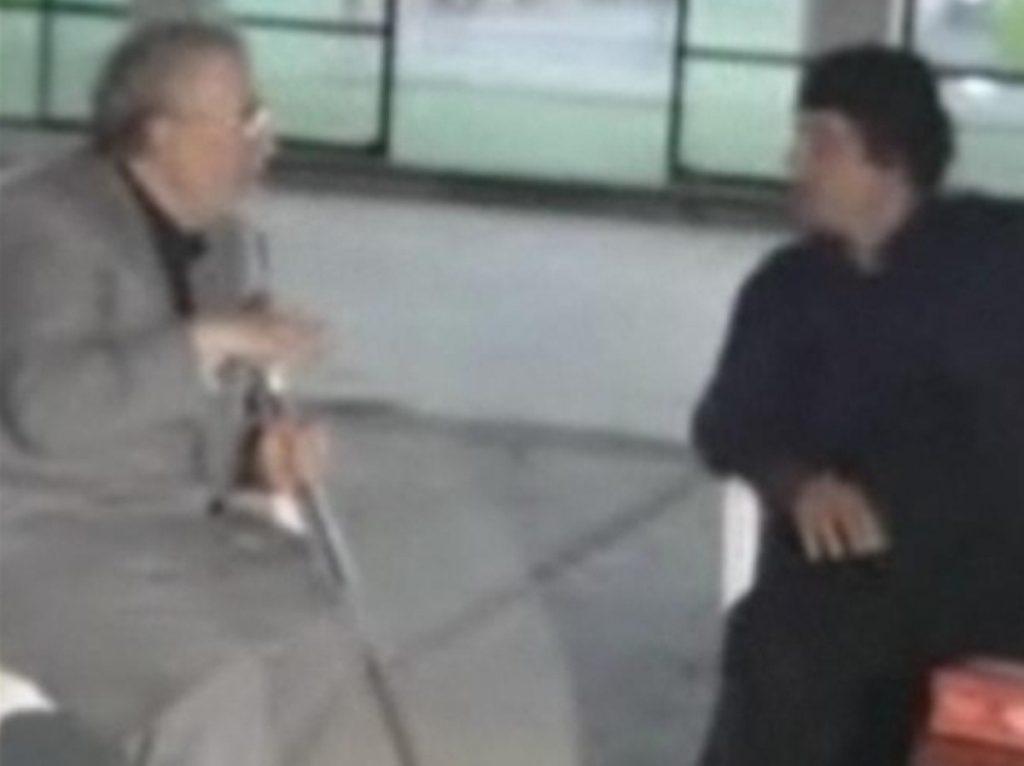 Abdelbaset al-Megrahi (l) with Libyan leader Gadaffi