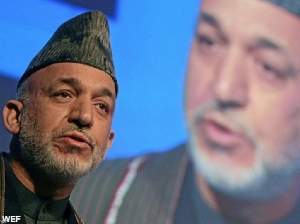 Afghan president Hamid Karzai wants control of more development money
