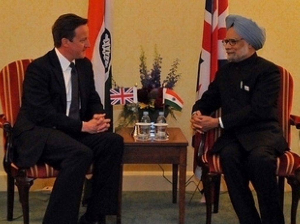 David Cameron meets with Manmohan Singh today