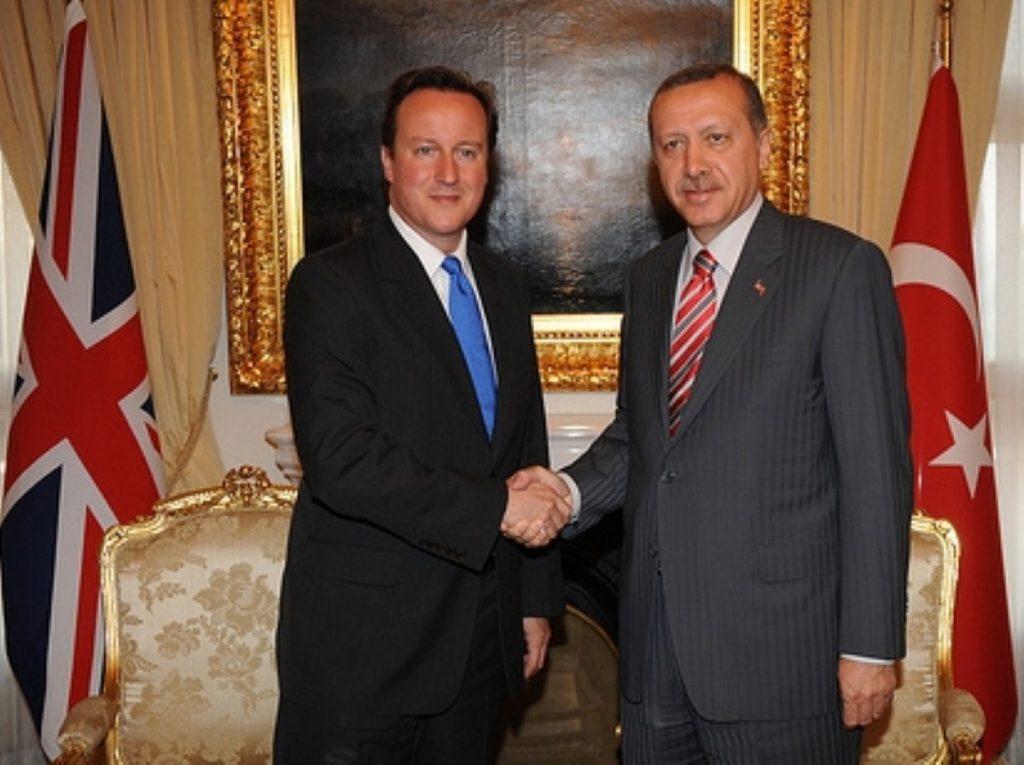 David Cameron with Turkish PM Recep Tayyip Erdogan