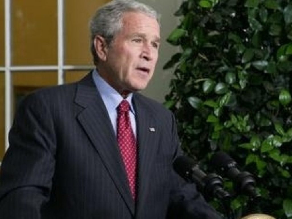 Bush was 'a true idealist', according to Tony Blair.