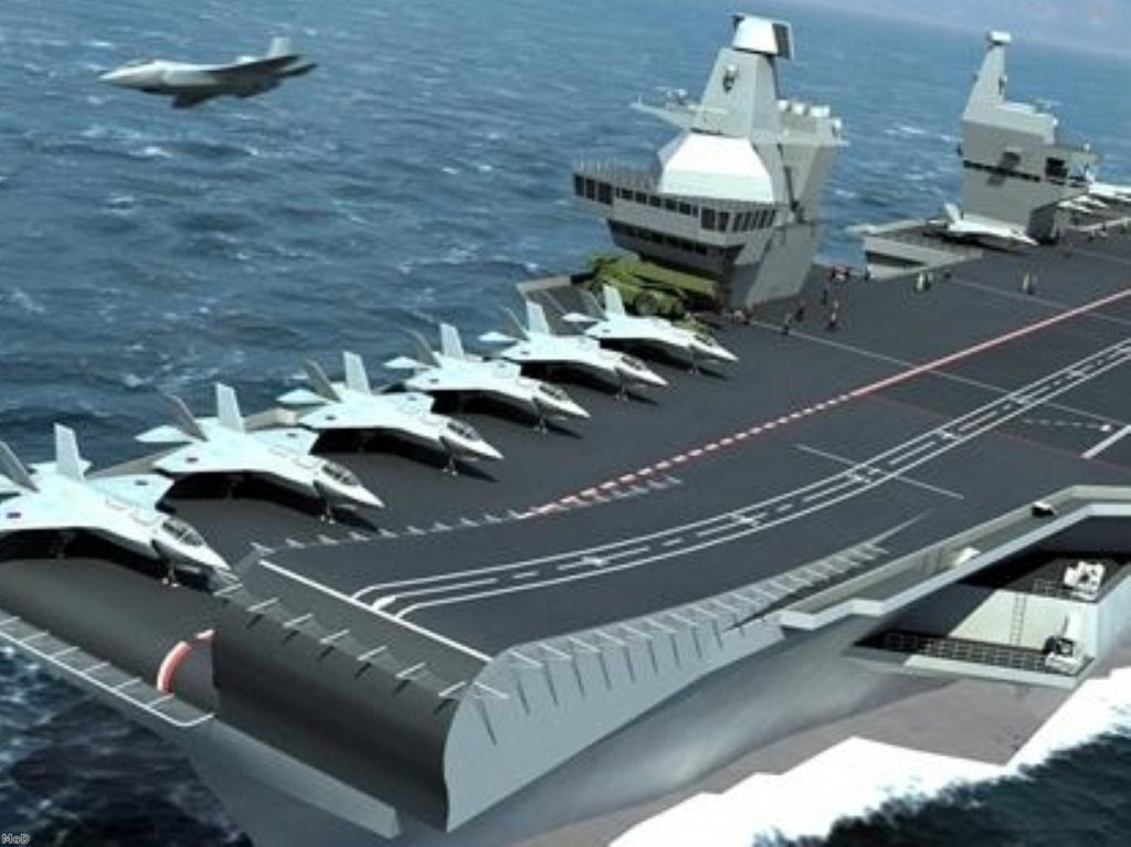 Scottish parties have called for the MoD to safeguard big defence contracts, including the building of new aircraft carriers