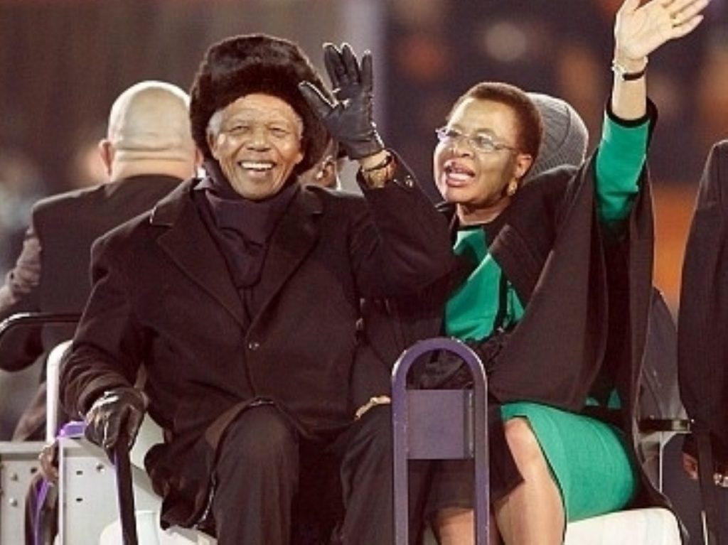 Nelson Mandela during a recent appearance at the South Africa World Cup