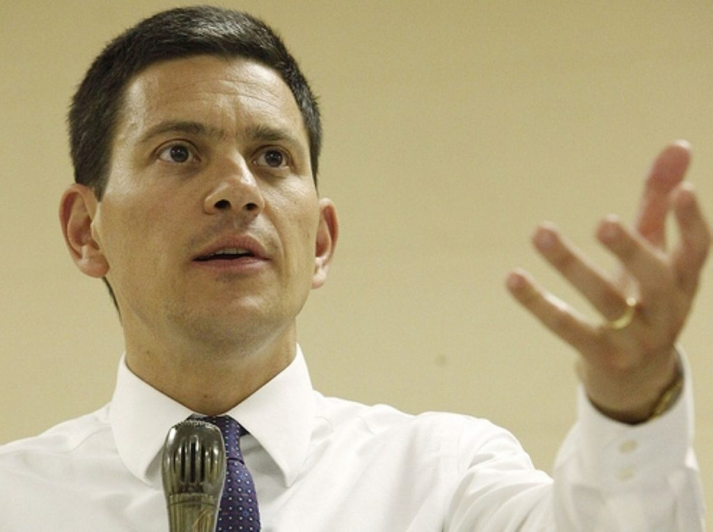 David Miliband views Lib Dems as chink in coalition's armour