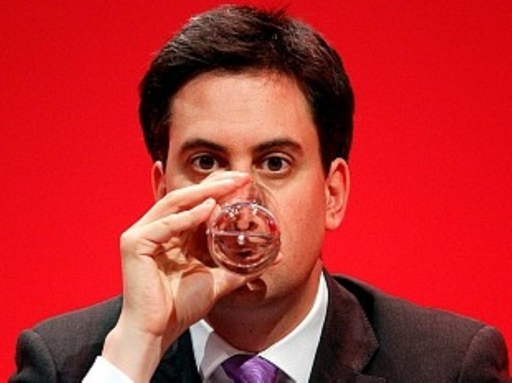 Nervous? Ed Miliband could still profit from a robust economic performance so early in the electoral cycle