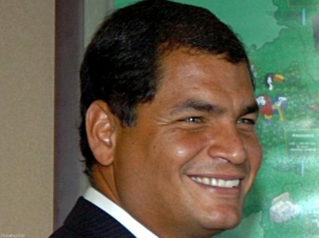 President Rafael Correa is a popular figure among poor Ecuadorians