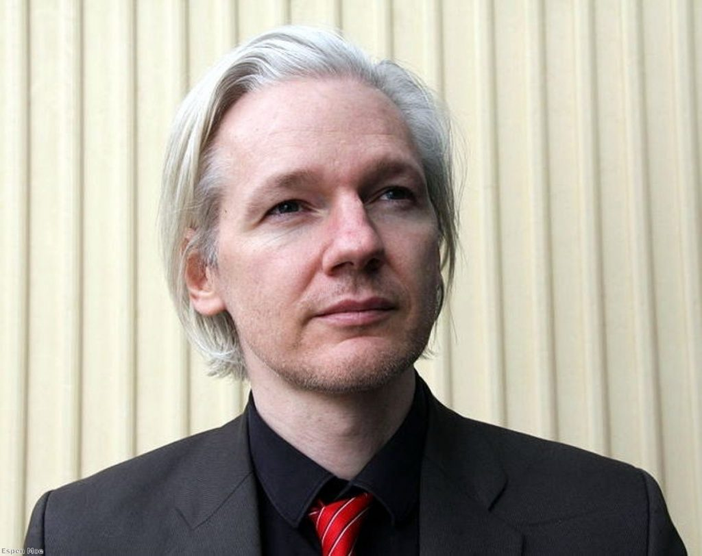 Julian Assange won't give himself up to police