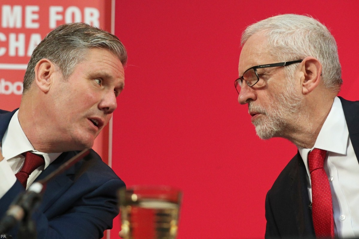 Jeremy Corbyn with Keir Starmer. The new Labour leader has made competence a central principle of his leadership.