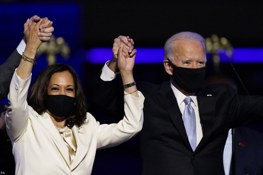 Joe Biden and Kamala Harris will become the next president and vice-president of the United States.